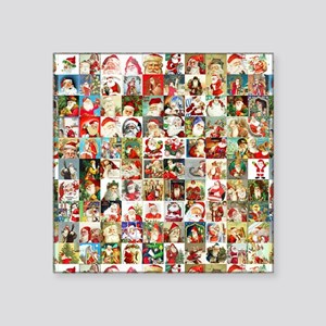 """Many Many Santas Square Sticker 3"""" x 3"""""""