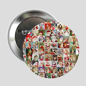 """Many Many Santas 2.25"""" Button"""