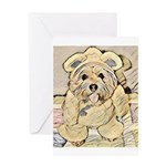 happy little teddy bear Greeting Cards