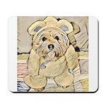 happy little teddy bear Mousepad