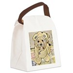 happy little teddy bear Canvas Lunch Bag