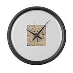 happy little teddy bear Large Wall Clock