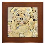 happy little teddy bear Framed Tile