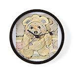 happy little teddy bear Wall Clock
