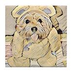 happy little teddy bear Tile Coaster