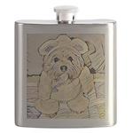 happy little teddy bear Flask