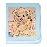 happy little teddy bear baby blanket