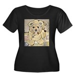 happy little teddy bear Plus Size T-Shirt