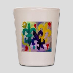 Mardi Gras Fleur de lis Shot Glass