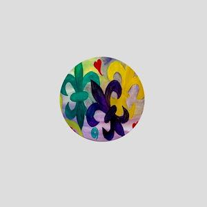Mardi Gras Fleur de lis Mini Button