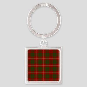 Cameron Modern Tartan Square Keychain