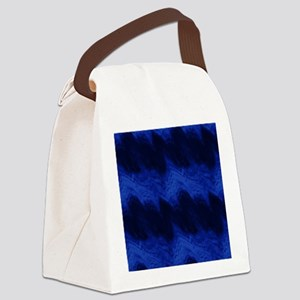 Light Blue Sound Waves on Dark Canvas Lunch Bag