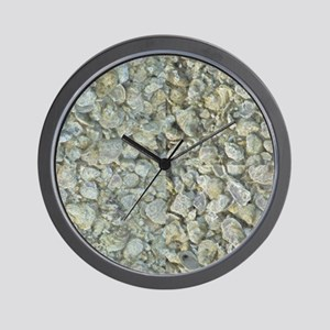Inverted Oyster Shells Abstract Wall Clock