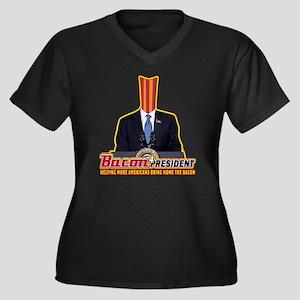 Bring Home T Women's Plus Size Dark V-Neck T-Shirt
