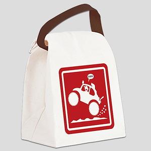 BAJA BUG WHEELIES sign Canvas Lunch Bag