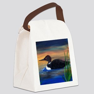 Loon Lake Canvas Lunch Bag