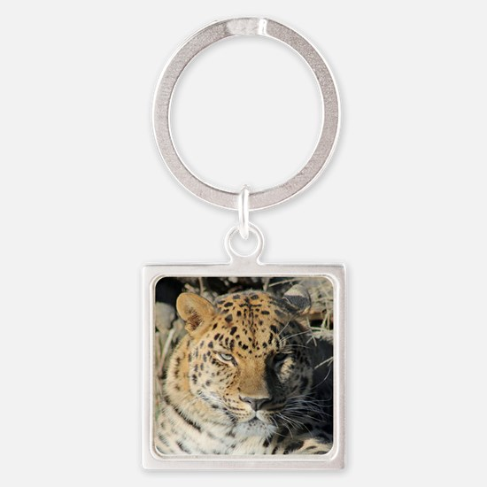 Piercing Eyes Square Keychain