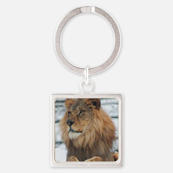 Young King Square Keychain
