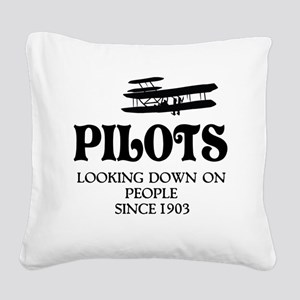 Pilots Square Canvas Pillow