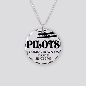 Pilots Necklace Circle Charm