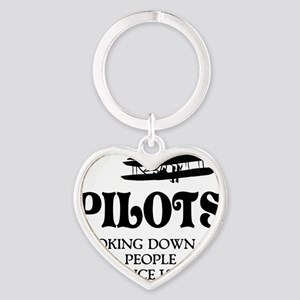 Pilots Heart Keychain