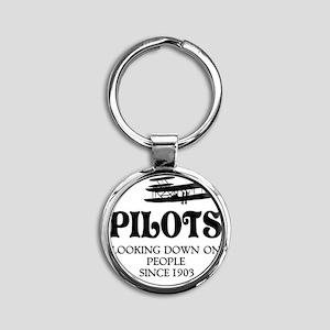 Pilots Round Keychain