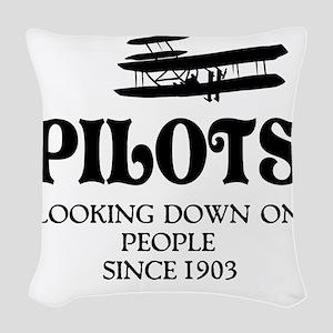 Pilots Woven Throw Pillow