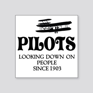 "Pilots Square Sticker 3"" x 3"""