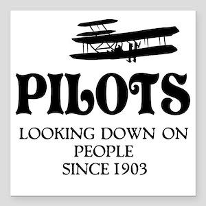 """Pilots Square Car Magnet 3"""" x 3"""""""