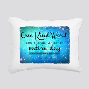 One Kind Word Rectangular Canvas Pillow