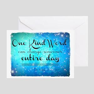 One Kind Word Greeting Card