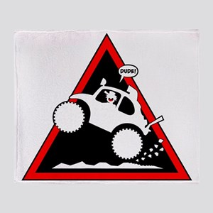 BAJA BUG WHEELIES Danger Throw Blanket