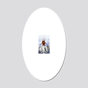 Ausar-Obatala 20x12 Oval Wall Decal