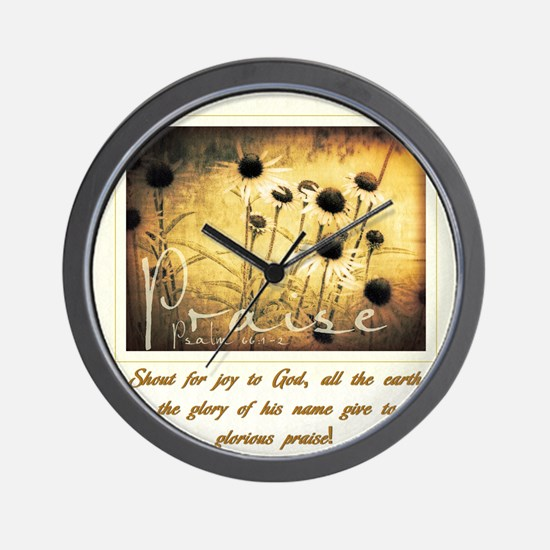 Glorious Praise Wall Clock