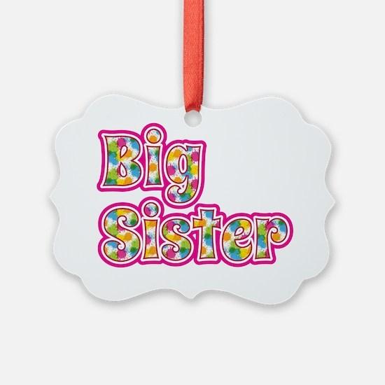 Big Sister Pink Ornament