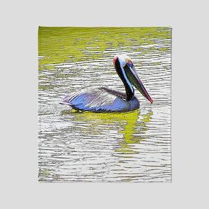Pelican Coastal Reflections Throw Blanket