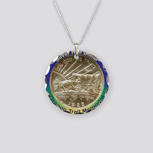 Oregon Trail Half Dollar Coi Necklace Circle Charm