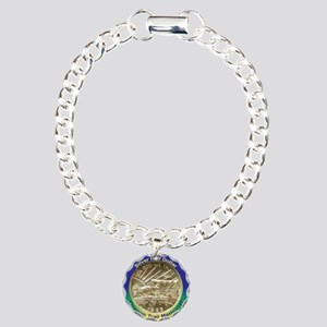 Oregon Trail Half Dollar Charm Bracelet, One Charm