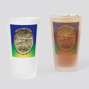 Oregon Trail Half Dollar Coin  Drinking Glass