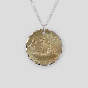 Pilgrim Tercentenary Half Do Necklace Circle Charm