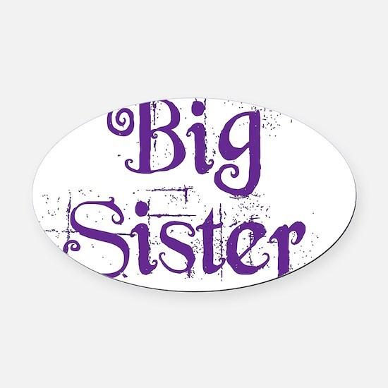 Big Sister Grunge Purple Oval Car Magnet