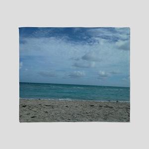 SOUTH BEACH , MIAMI Throw Blanket