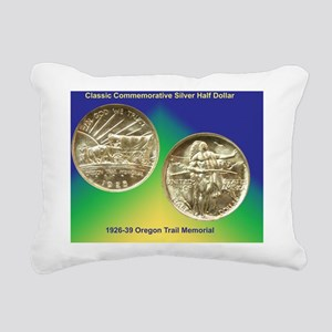 Oregon Trail Half Dollar Rectangular Canvas Pillow