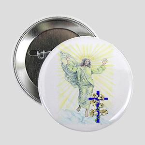 Jesus & Cross Button