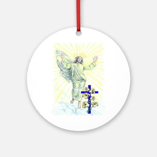 Jesus & Cross Ornament (Round)