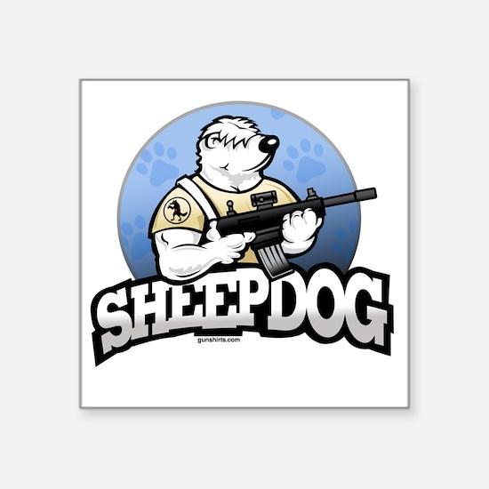 "Sheepdog Design 1 Square Sticker 3"" x 3"""