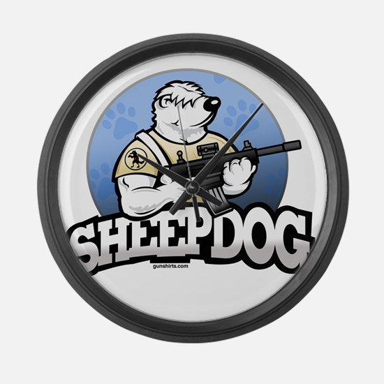 Sheepdog Design 1 Large Wall Clock