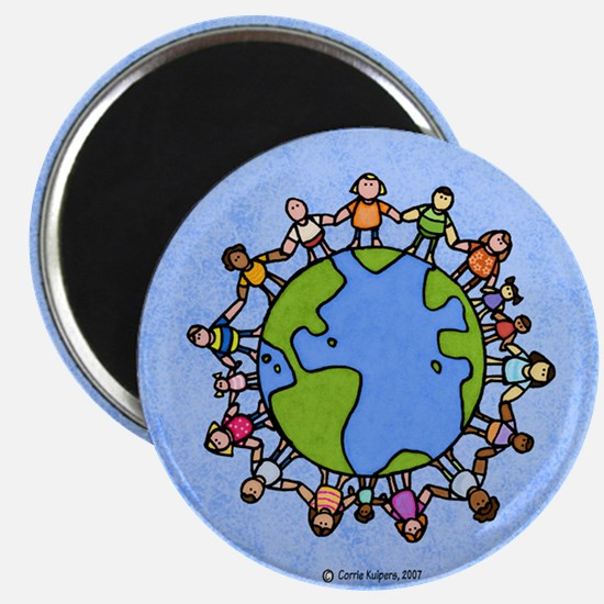 One world, one people Magnet