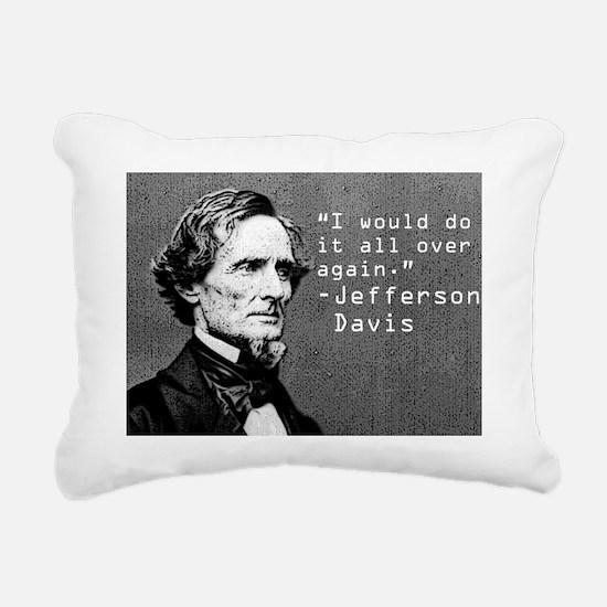 Jefferson Davis Rectangular Canvas Pillow
