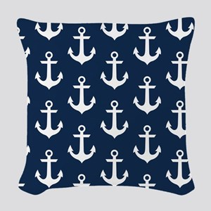 Anchor Me Woven Throw Pillow